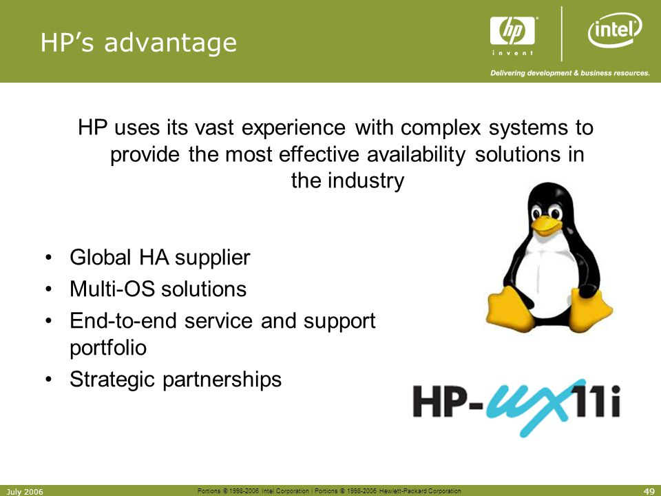 HP's advantage [Course Title] [Module Title]
